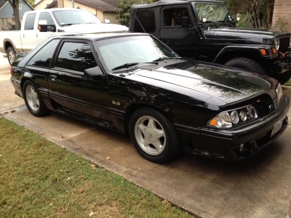 1992 Ford Mustang GT 5.0 Foxbody Black Hatchback Sports Car Hot Rod - $5000 (houston texas)