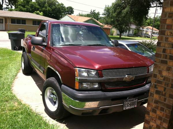 2003 chevy silverado stepside pickup 4x4 - $7500 (groves tx.)