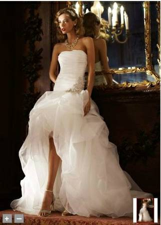 Gorgeous Galina Signature Wedding Gown, Never Worn or Altered - $750 (Bridge city)
