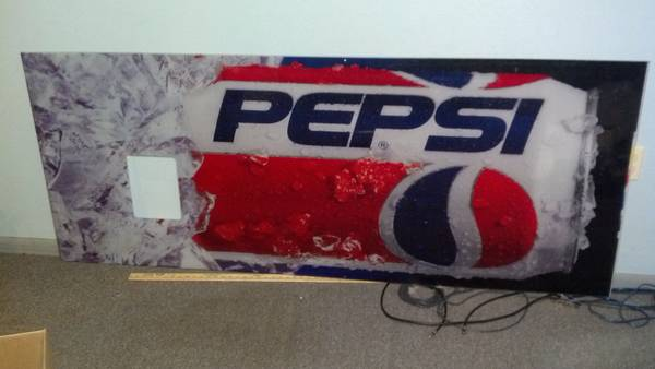 pepsi coke machine front cover obo -   x0024 50  port arthur