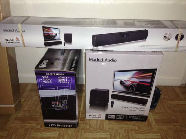 New 72 inch LED Projector with surround sound (Port ArthurBeaumont)