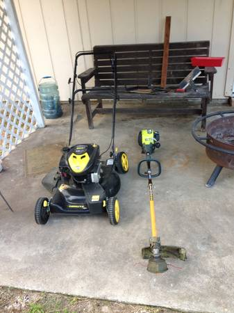 Self propel push mower and weed eater - $150 (Beaumont,TX)