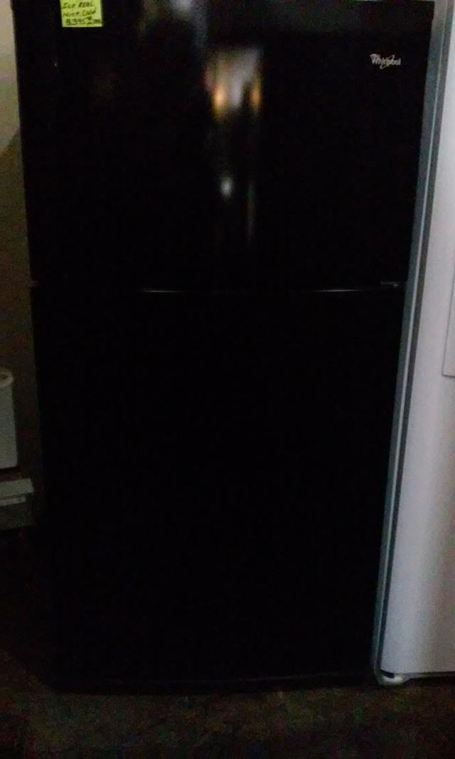 349  Whirlpool Top  Freezer Refrigerator Black