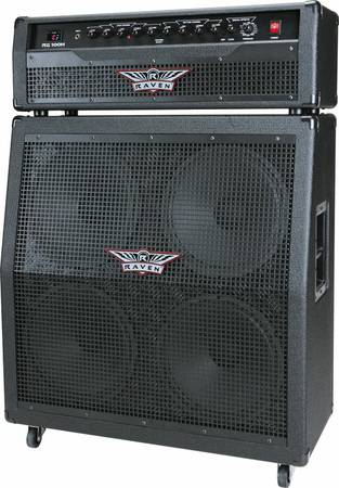 raven half stack and head..like new..cheap - $400 (beaumont, texas)