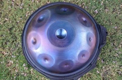 Pantheon Steel Halo Handpan Aegean scale with Halo Helment $1800