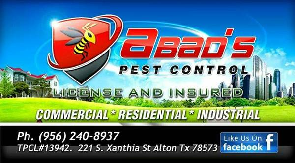 9733   9733   9733 ABADS PEST CONTROL  9733   9733   9733   mission McAllen Edinburg