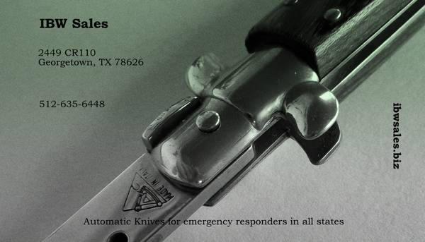 Knife ban lifted in Texas   ibwsales biz