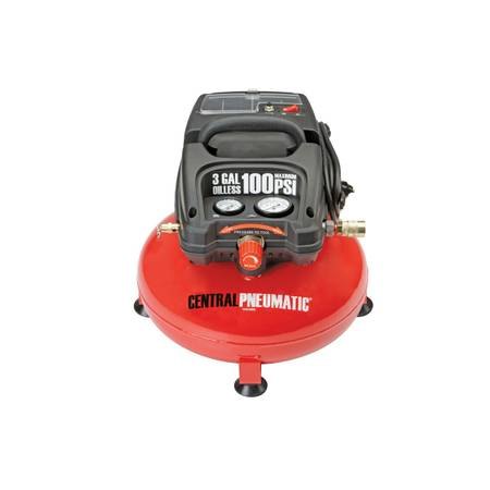 1 3 Horsepower  3 gal   100 PSI Oilless Pancake Air Compressor   big lake