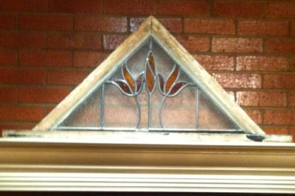 Stained glass in frame -  75  Midland