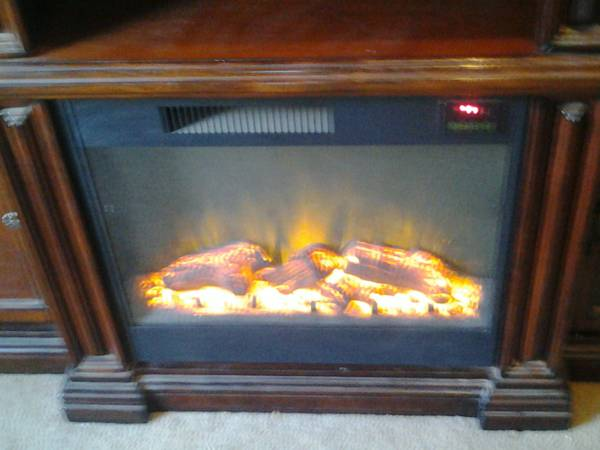 beautiful solid wood electric chimney  600