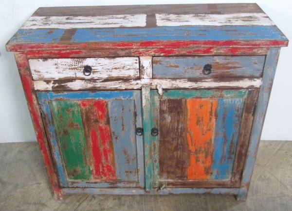 Rustic, Recycled Wood BUFFET  SIDEBOARD - ON SALE (Ganesha Home - FREE Shipping)