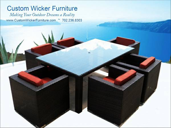 Summer Break  Party on This Wicker Patio Furniture  southwest tx