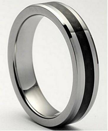 CLASSICAL Tungsten Carbide Men s Plain Dome Wedding Band -  61  Southwest Tx