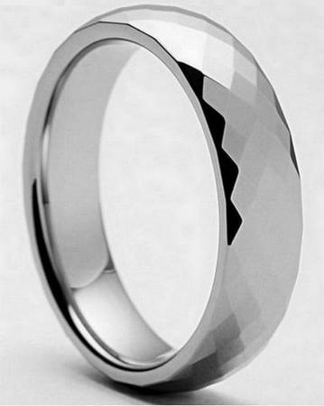 ODYSSEY 8MM Satin Finish Tungsten Carbide 14K Gold Inlay Wedding Band -  59  Southwest Tx