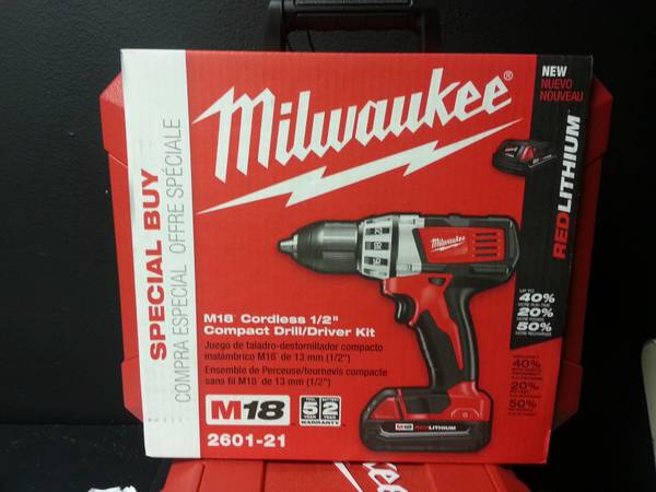 18 volt Milwaukee drill  -  130  houston tx