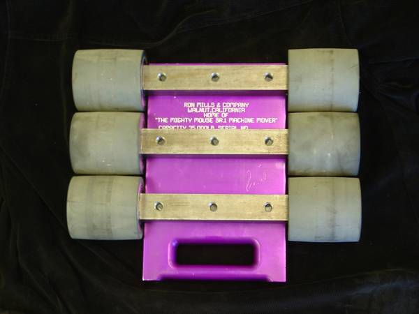 MACHINE MOBILITY  MACHINERY SKATES  DOLLIES   ROLLERS -  1  WORLDWIDE