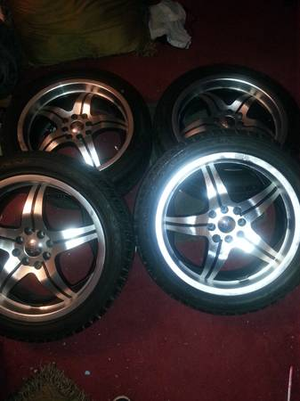 17 inch 4 lug universal rims  - $275 (South Fort Worth)