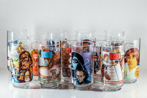 STAR WARS BURGER KING GLASSES FULL SET 12 -  150  Downtown Orlando