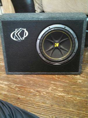 KICKER SUB 10 IN CUSTOM PORTED TRUCK BOX  - $100 (SAN ANGELO)