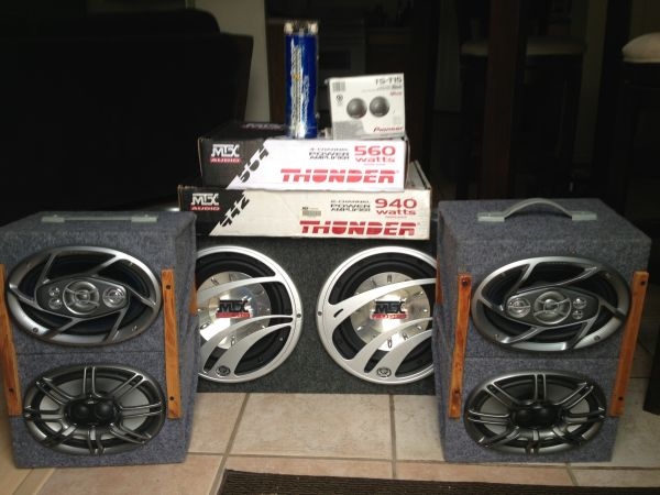 Complete Car audio Subs, Amps, and Speakers - $800 (Austin)