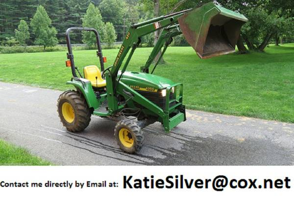 HYDROSTATIC 2000 John Deere 4x4 4200 Compact tractor w JD 420 LOADER - $2330