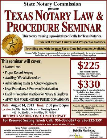 RENEW OR GET YOUR TEXAS NOTARY PUBLIC COMMISSION