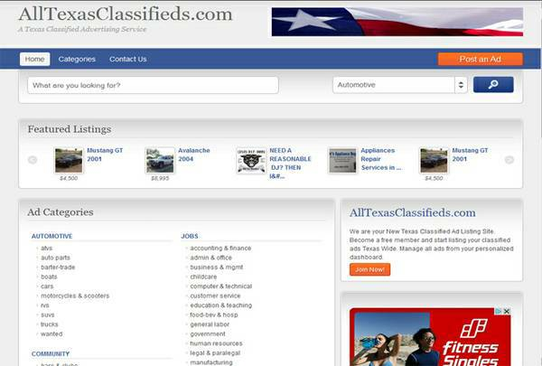 9608   9608  ALL TEXAS CLASSIFIEDS  TEXAS WIDE