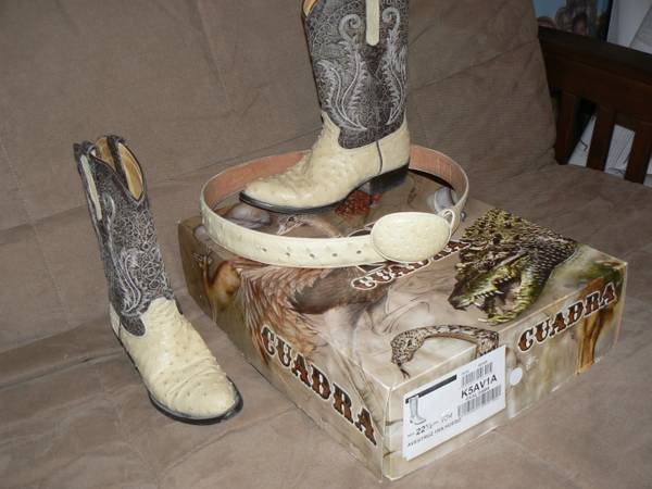 Female Ostrich Boots For Sale or Trade      -   x0024 250  Brownsville