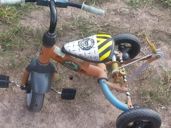 kids tow mater tricycle - $50