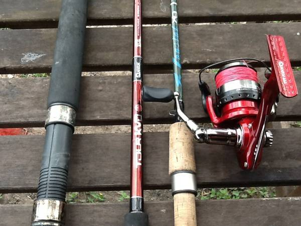 Falcon, peen, quantum spinning rods quantum reel. - x002430 (brownsville tx)