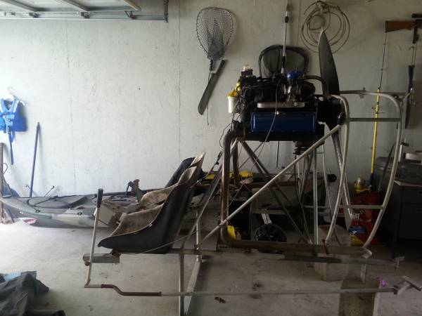 mini airboat engine and cage - $1500 (duck hunters in rattlesnake bay)