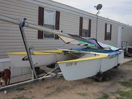 18 foot Prindle Catamaran, perfect condition New Troline LOOK - $1200 (Brownsville)