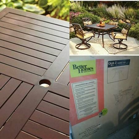 new better homes outdoor table - $60 (Brownsville)