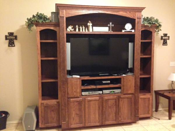 WTS Large Solid Wood Entertainment Center - x00241500 (Brownsville)