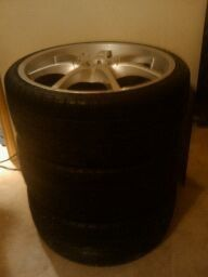 18s rims with new lo pro tires  - $400 (ALAMO)
