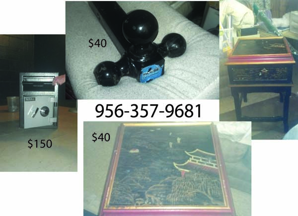 Chinese end table, Drop Safe, Receiver Hitch 3ball - $40 (Port Isabel)