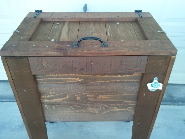 Rustic Wood Cooler - $120 (Brownsville)