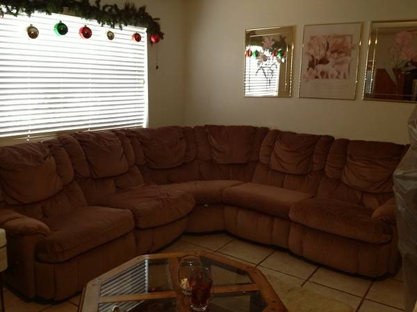 old sofa sectional from lacks - $60 (harlingen tx)