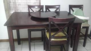 tall big kitchen table from furniture row - $185 (Brownsville)