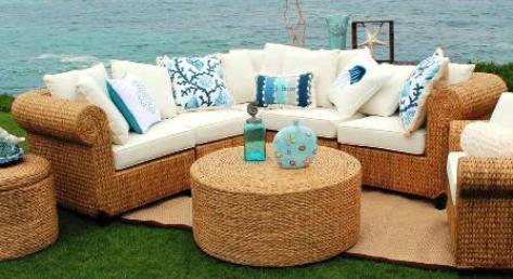 New SEAGRASS 5-Piece Sectional  Hand-woven in Bali DESIGNER BOUTIQUE QUALITY Free Shipping U S