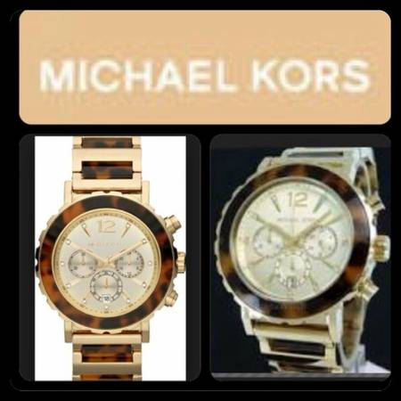 Michael Kors Women s Tortoise Chronograph Watch -   x0024 200  Brownsville