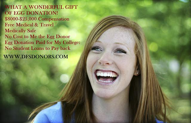 College Educated Egg Donors Needed  8 000- 25 000