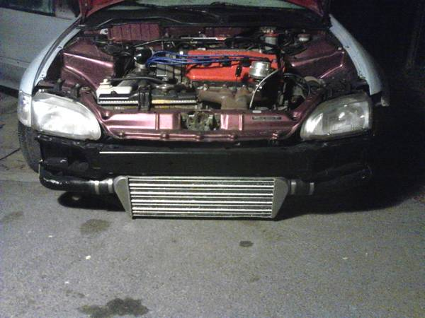 honda civic d16z6 complete engine and turbo - $1300