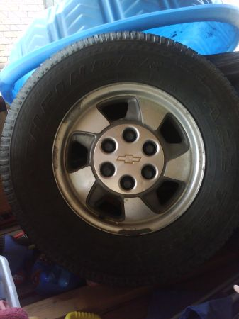 2002 chevy tahoe 16 rims and tires - $250 (brownsville)