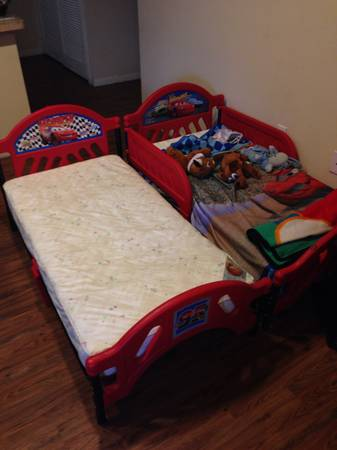 2 Disney Cars Toddler Beds w matresses - $60 (Brownsville)