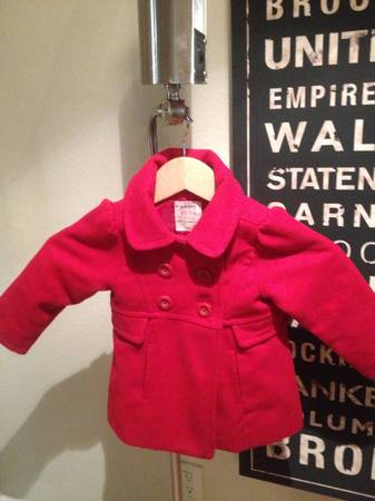 Old Navy Red Pea Coat 2T - $10 (Brownsville, TX)