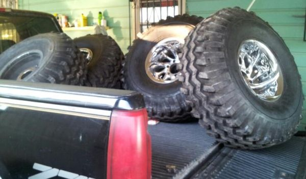 rims and tires gumbo monster mudders - $1