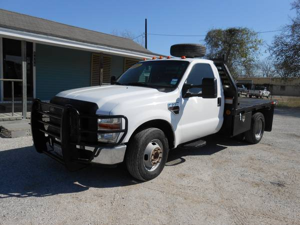 2008 FORD F350 POWERSTROKE DIESEL DUALLY FLATBED - $12500 (CORPUS CHRISTI)