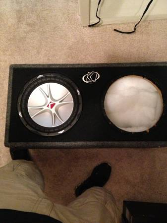 12 inch kicker cvr subwoofer and box - $100