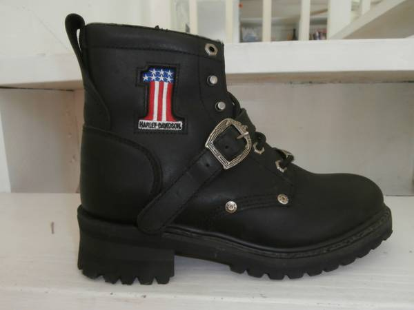 Womens Harley Davidson Steel Toe Boots- pre owned - $50 (South Padre Island)